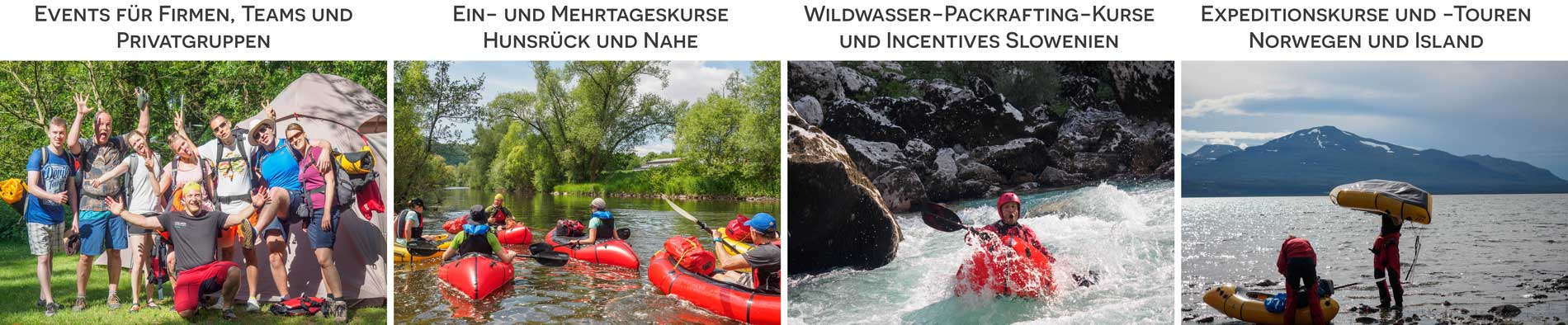 Packrafting Angebote Land Water Adventures